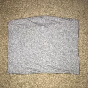 grey brandy tube top